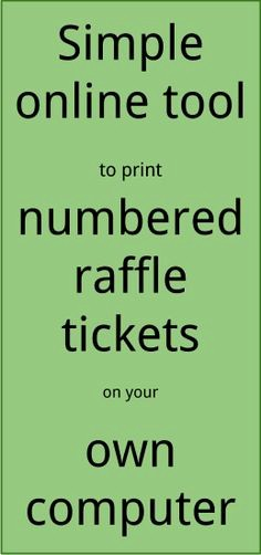 Free Printable Tickets with Numbers Lovely 1000 Images About Hockey Fundraising Ideas On Pinterest