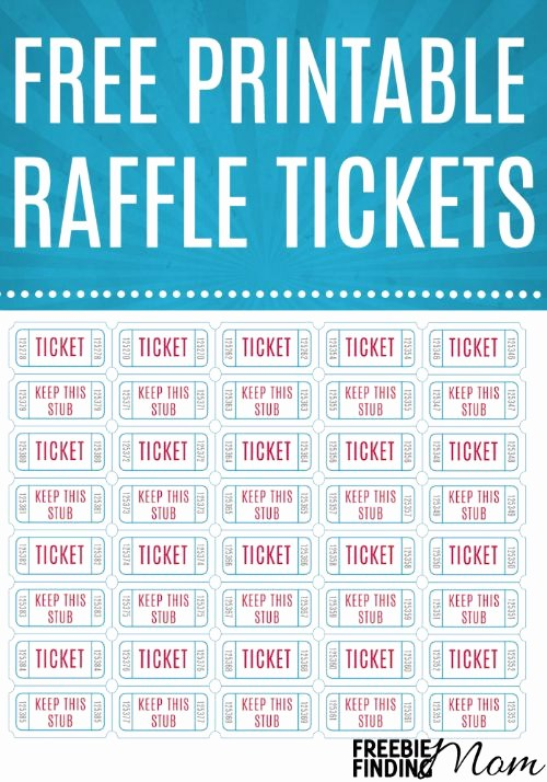 Free Printable Tickets with Numbers Lovely Free Printable Raffle Tickets