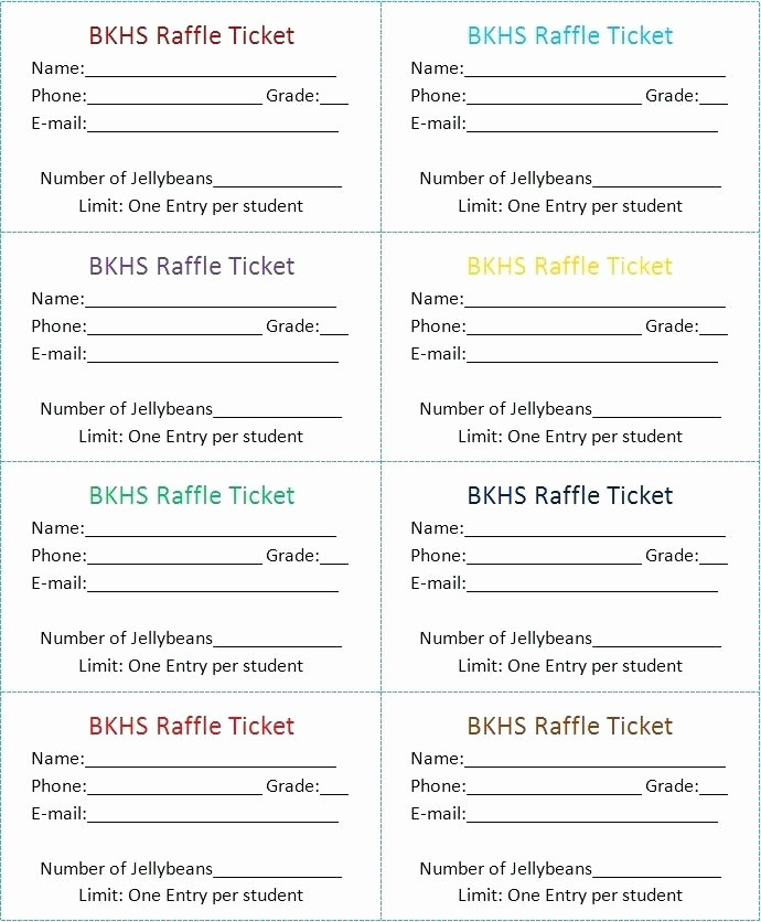 Free Printable Tickets with Numbers New Free Printable event Ticket Templates Raffle Template with