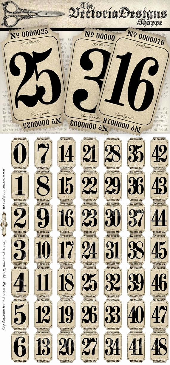 Free Printable Tickets with Numbers New Vintage Tickets Strips with Numbers Vintage Hobby Crafting