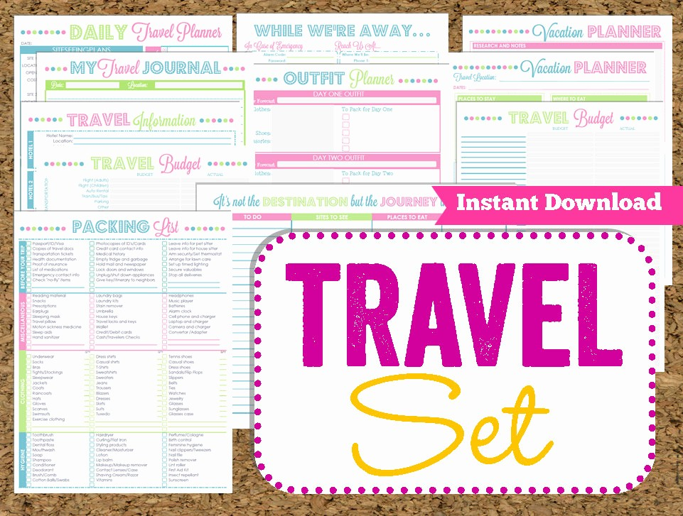Free Printable Vacation Planner Template Awesome 9 Best Of Travel Planner Template Printable