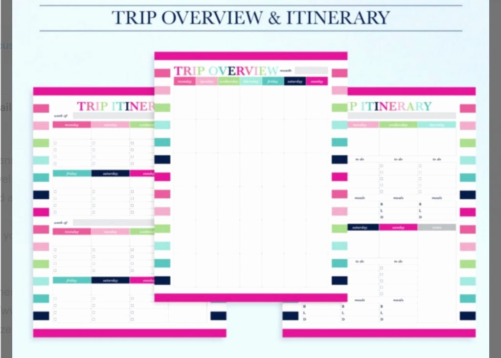 Free Printable Vacation Planner Template Beautiful 10 Itinerary Template Examples