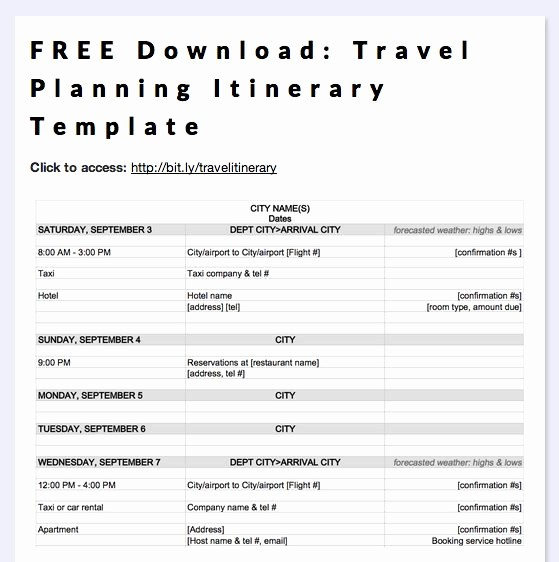 Free Printable Vacation Planner Template Best Of Free Download Travel Planning Itinerary Template by Megan