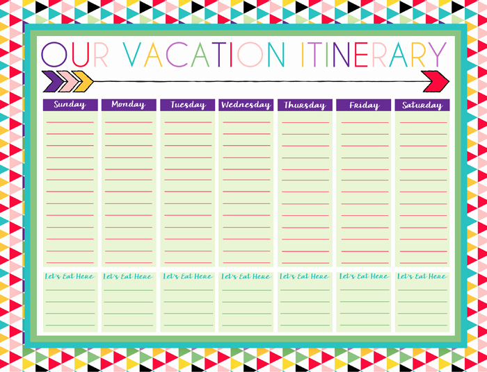 Free Printable Vacation Planner Template Fresh Free Printable Daily and Weekly Vacation Calendars