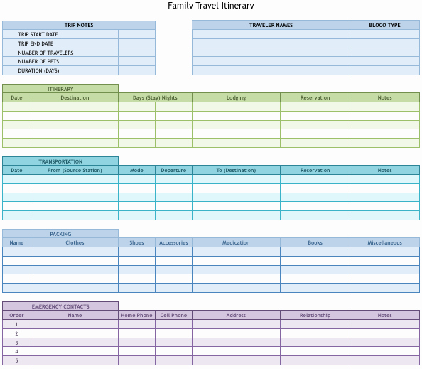 Free Printable Vacation Planner Template Fresh Vacation Planner Template