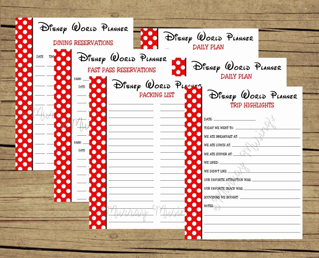 Free Printable Vacation Planner Template Inspirational Disney Planning Calendar Template