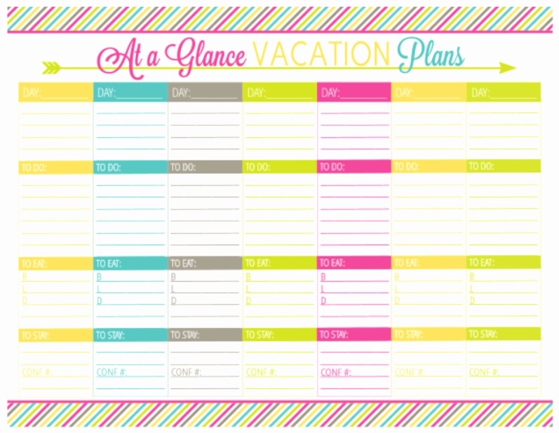 Free Printable Vacation Planner Template Inspirational Vacation Planning Printable Pack organizing Homelife