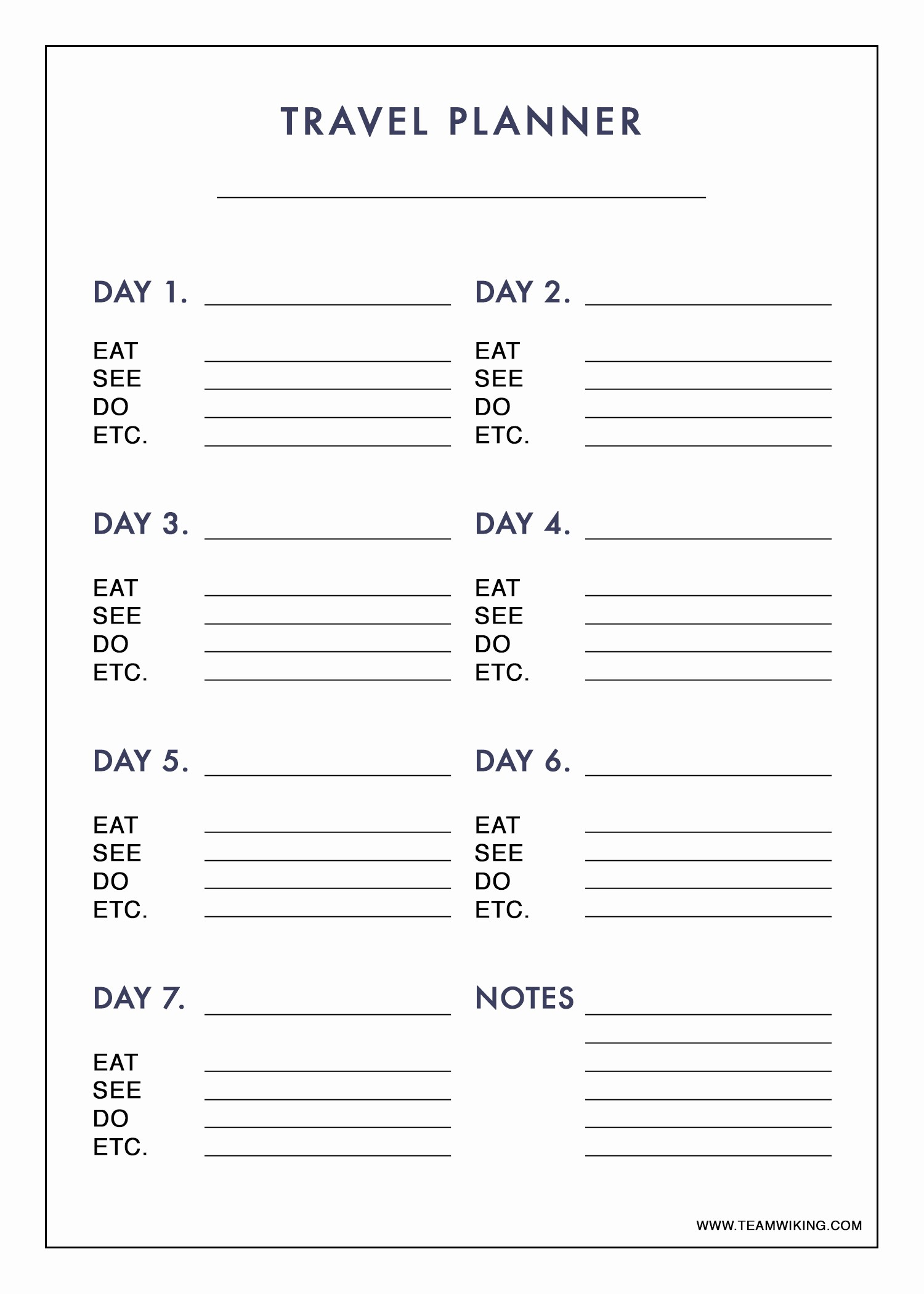 Free Printable Vacation Planner Template New Printable Travel Planner Hej Doll