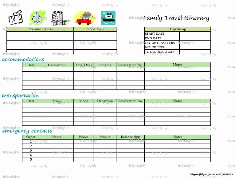 Free Printable Vacation Planner Template Unique 8 Best Of Printable Vacation Itinerary Free