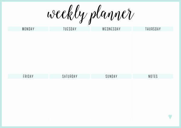 Free Printable Weekly Calendar 2019 Awesome Free Printable Weekly Calendar Template