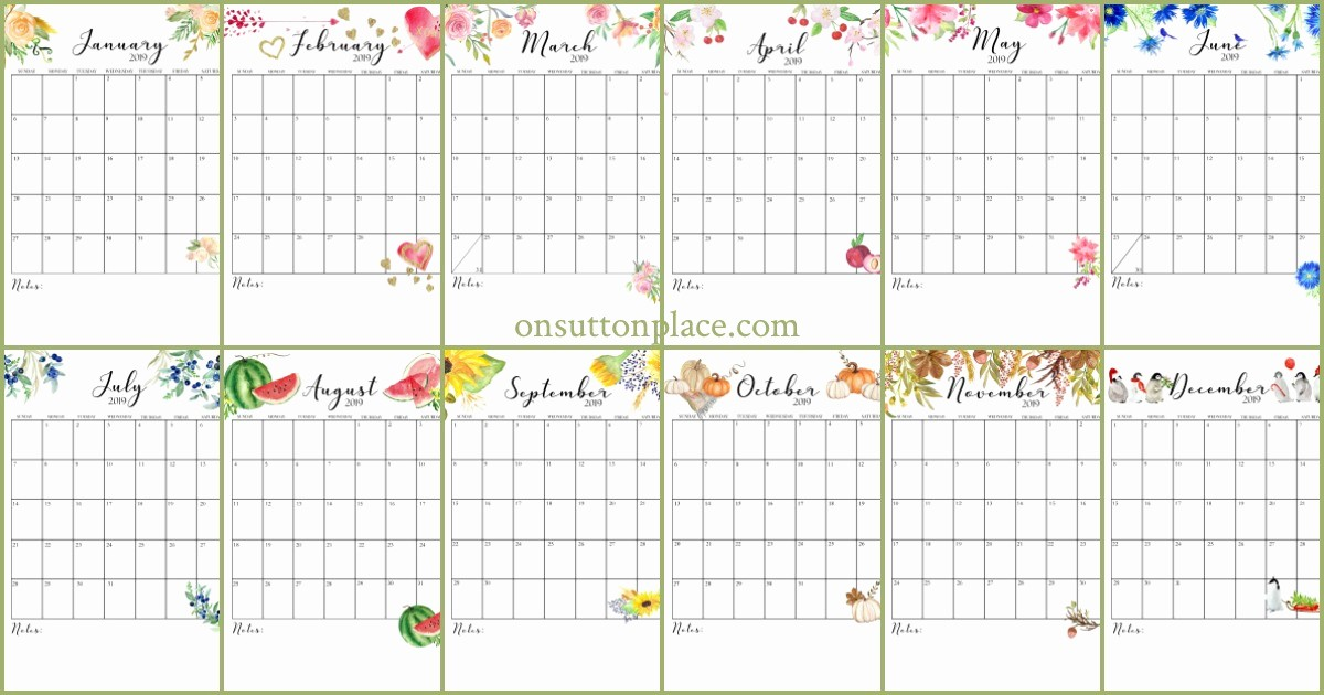 Free Printable Weekly Calendar 2019 Beautiful Free Printable Calendar 2019 Monthly Calendar