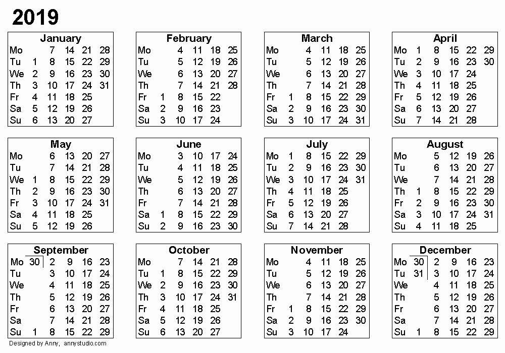 Free Printable Weekly Calendar 2019 Fresh Weekly Calendar 2019