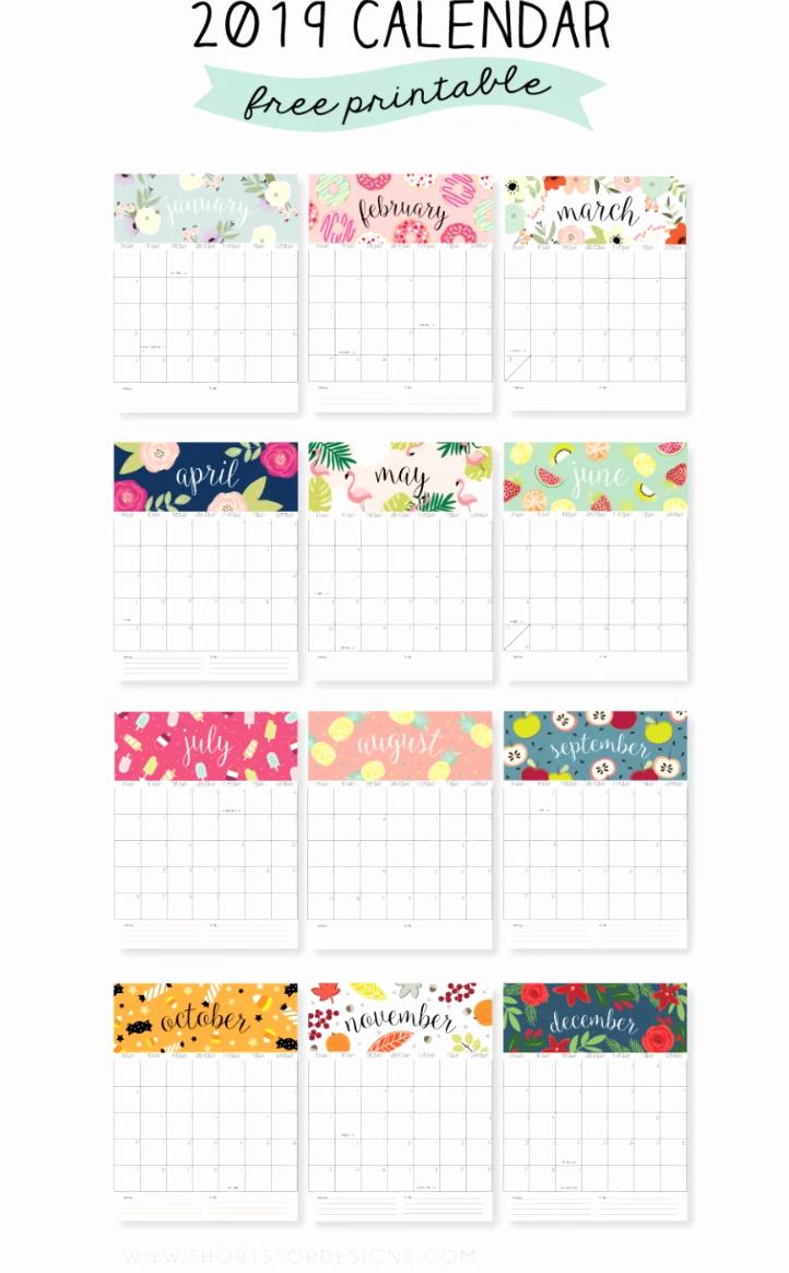 Free Printable Weekly Calendar 2019 Lovely Free Printable 2019 Calendars — Create Home Storage