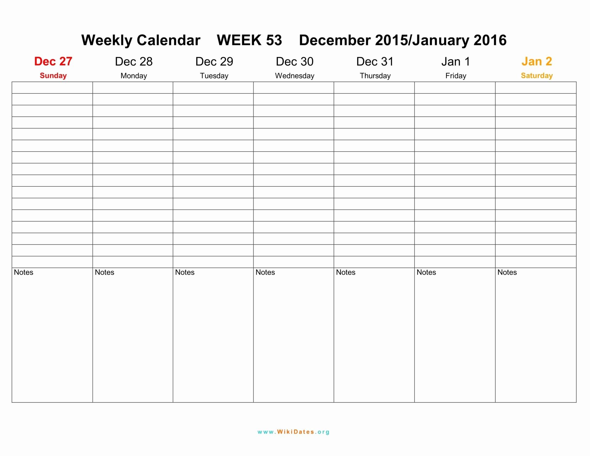 Free Printable Weekly Calendars 2017 Fresh 2016 2017 Blank Weekly Calendar