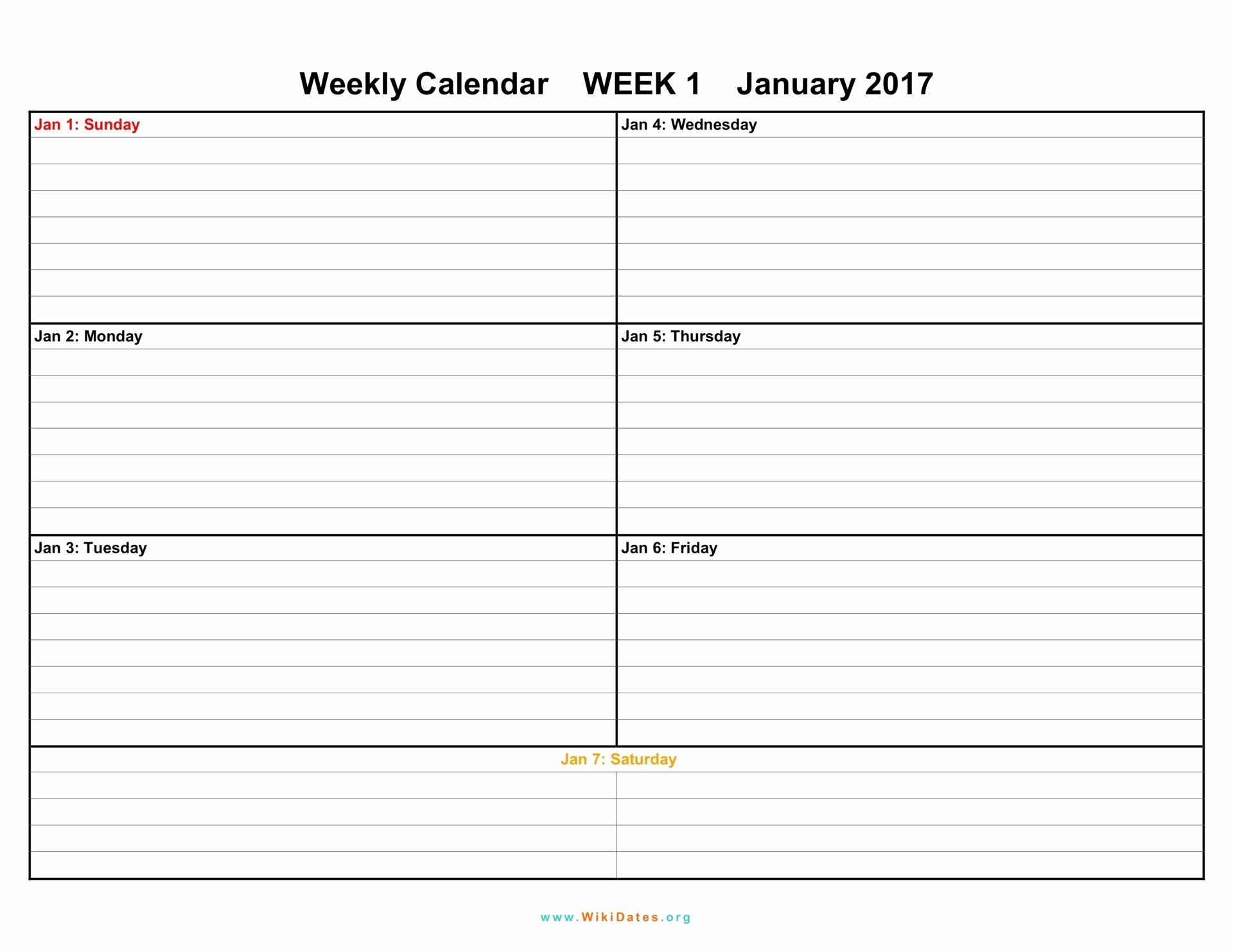 Free Printable Weekly Calendars 2017 Inspirational Weekly Calendar Download Weekly Calendar 2017 and 2018