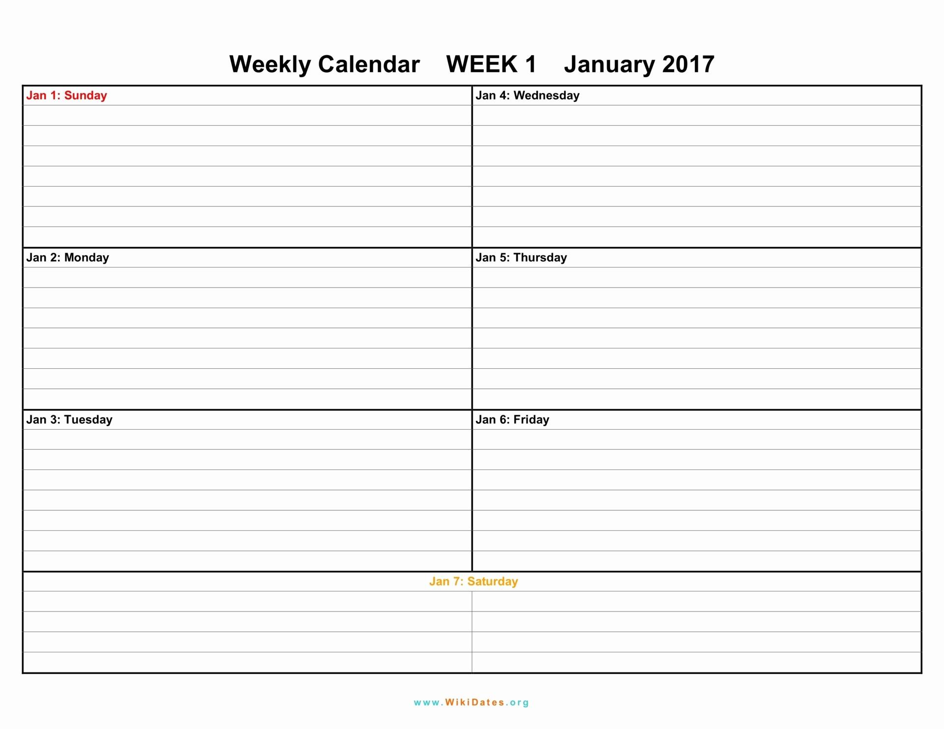 Free Printable Weekly Calendars 2017 Inspirational Weekly Calendar Download Weekly Calendar 2017 and 2018