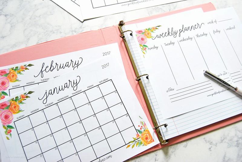 Free Printable Weekly Calendars 2017 New Free Printable 2017 Monthly Calendar and Weekly Planner