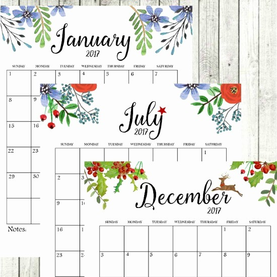 Free Printable Weekly Calendars 2017 Unique 2017 Free Printable Monthly Calendar Sutton Place