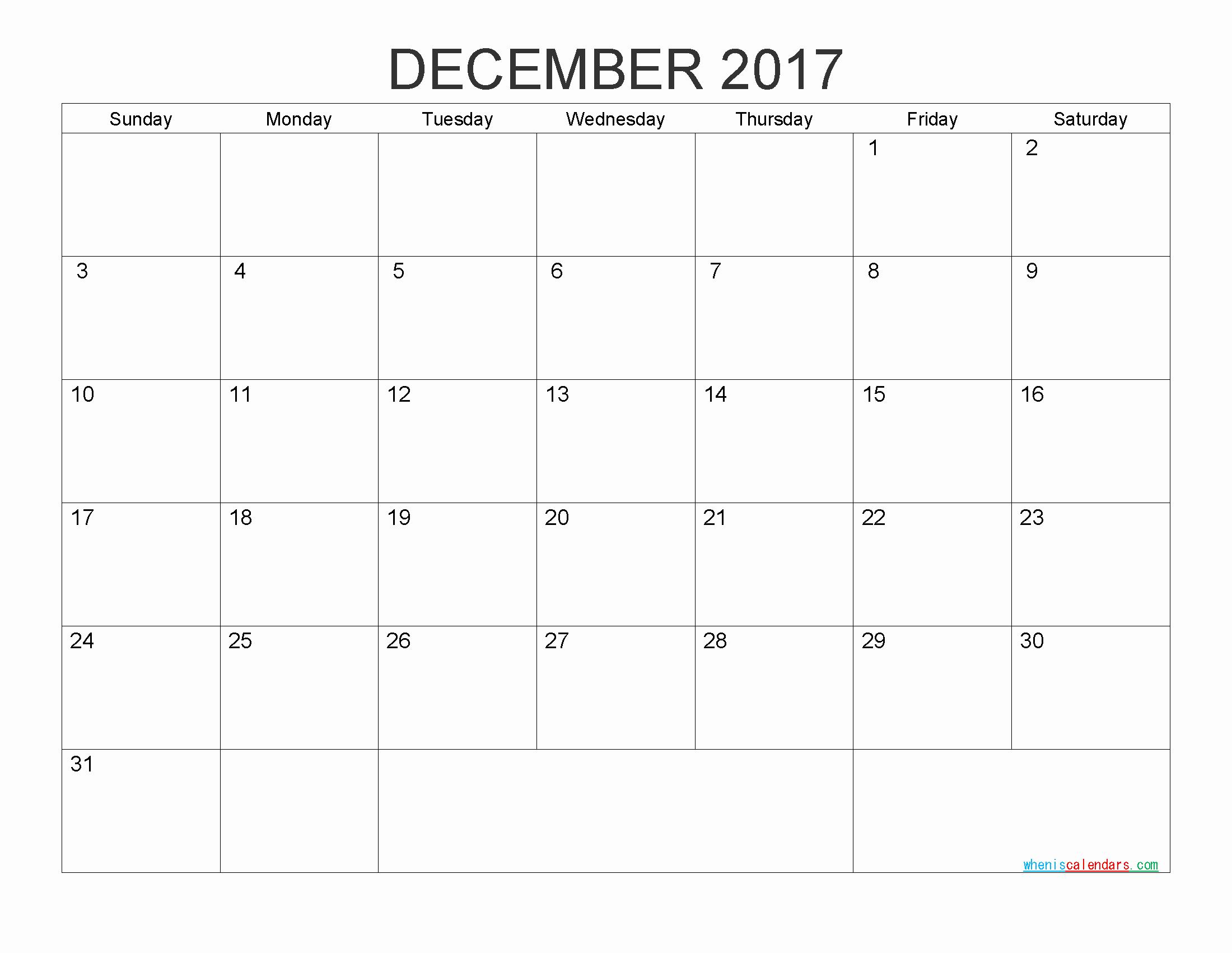 Free Printable Weekly Calendars 2017 Unique Free Printable Calendar 2017 Monthly Calendar by Pdf