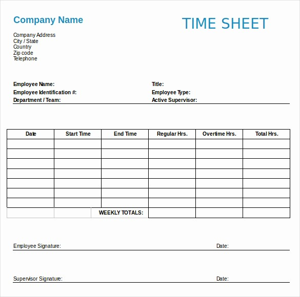 Free Printable Weekly Timesheet Template Fresh Employment Timesheet Template