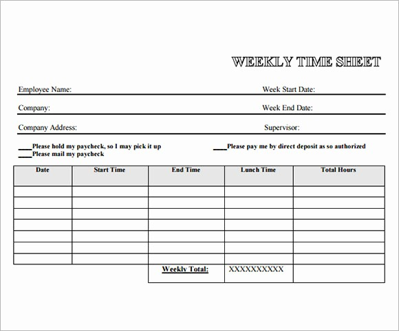 Free Printable Weekly Timesheet Template Lovely 13 Employee Timesheet Samples