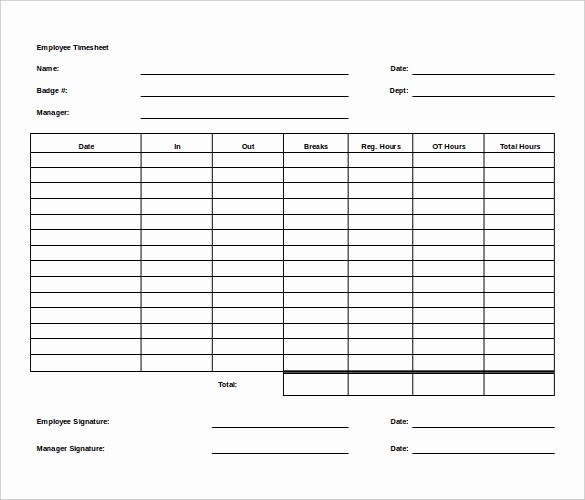 Free Printable Weekly Timesheet Template Lovely 27 Ms Word Timesheet Templates Free Download