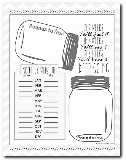 Free Printable Weight Loss Tracker Beautiful 12 Month Weight Loss Tracker Download to Insanity & Back
