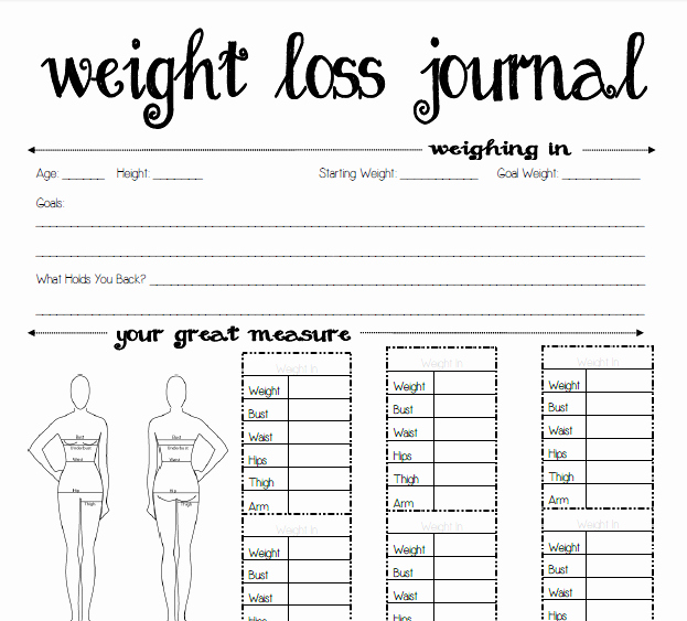 Free Printable Weight Loss Tracker Beautiful 8 Best Of Weight Loss Planner Printable Free