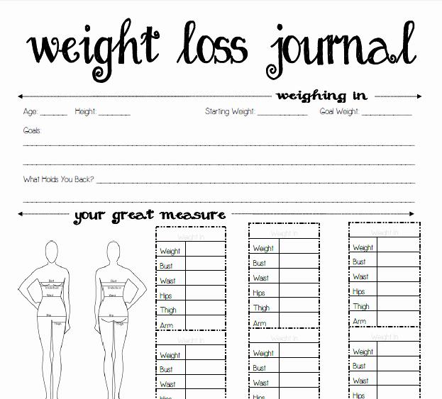 Free Printable Weight Loss Tracker Beautiful 8 Best Of Weight Loss Planner Printable Free