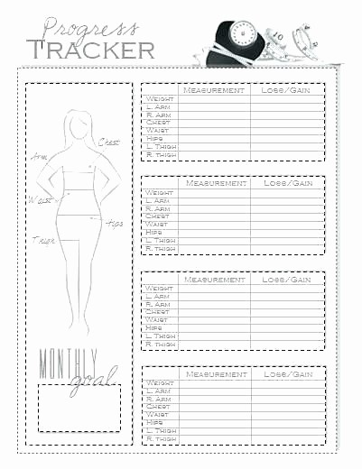 Free Printable Weight Loss Tracker Elegant Bullet Journal Weight Loss Tracker Printable Excel