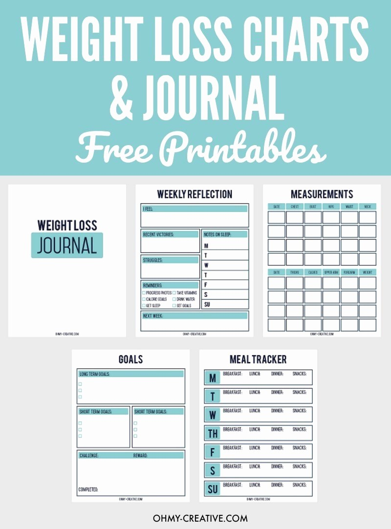 Free Printable Weight Loss Tracker Fresh Printable Weight Loss Chart and Journal for Weight Loss