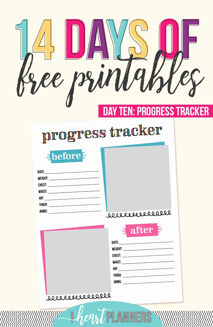 Free Printable Weight Loss Tracker Inspirational Day 10 Progress Tracker I Heart Planners