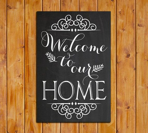 Free Printable Welcome Home Signs Fresh 8 Best Of Wel E Printable Chalkboard Art