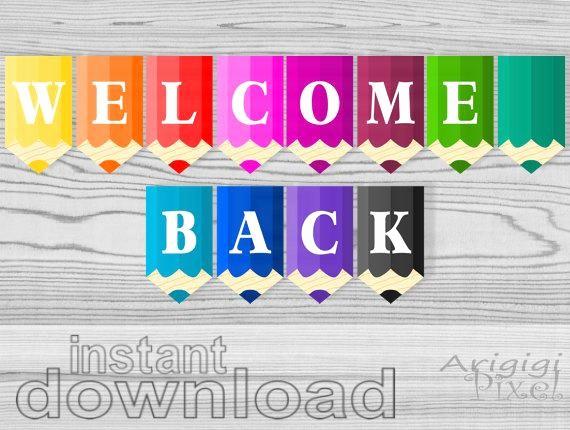 Free Printable Welcome Home Signs Fresh Wel E Back Printable Banner Pencils Classroom Pennants Back