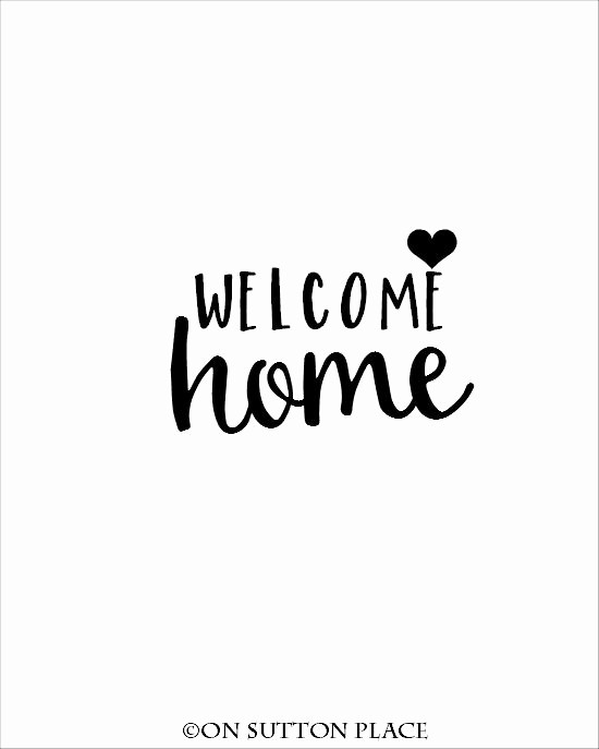 Free Printable Welcome Home Signs Inspirational Wel E Home Getting Crafty & Diy Pinterest