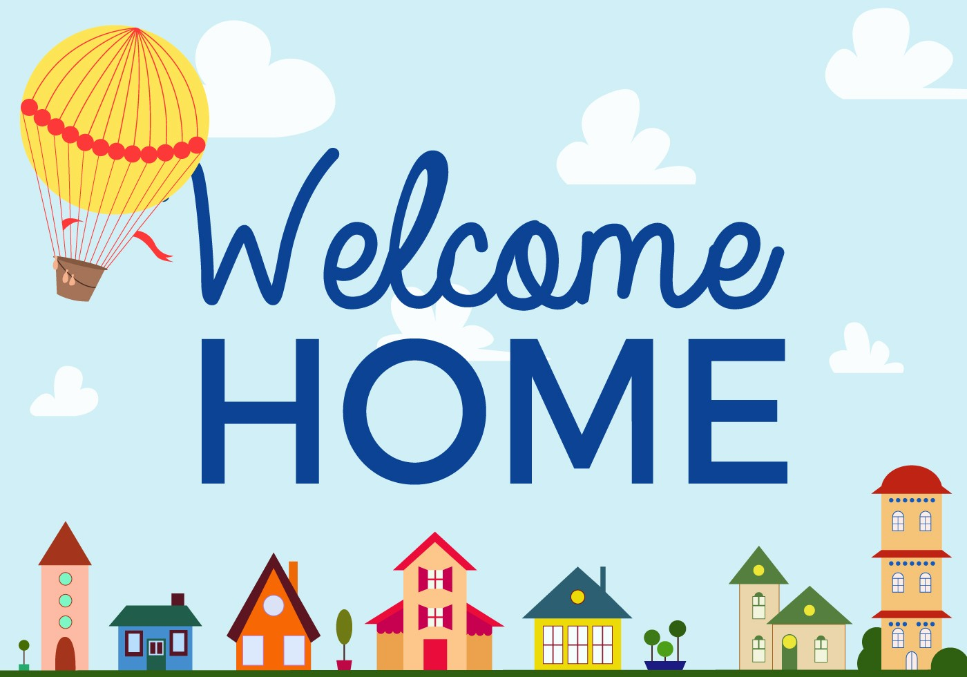 Free Printable Welcome Home Signs Lovely Free Wel E Home Vector Download Free Vector Art Stock