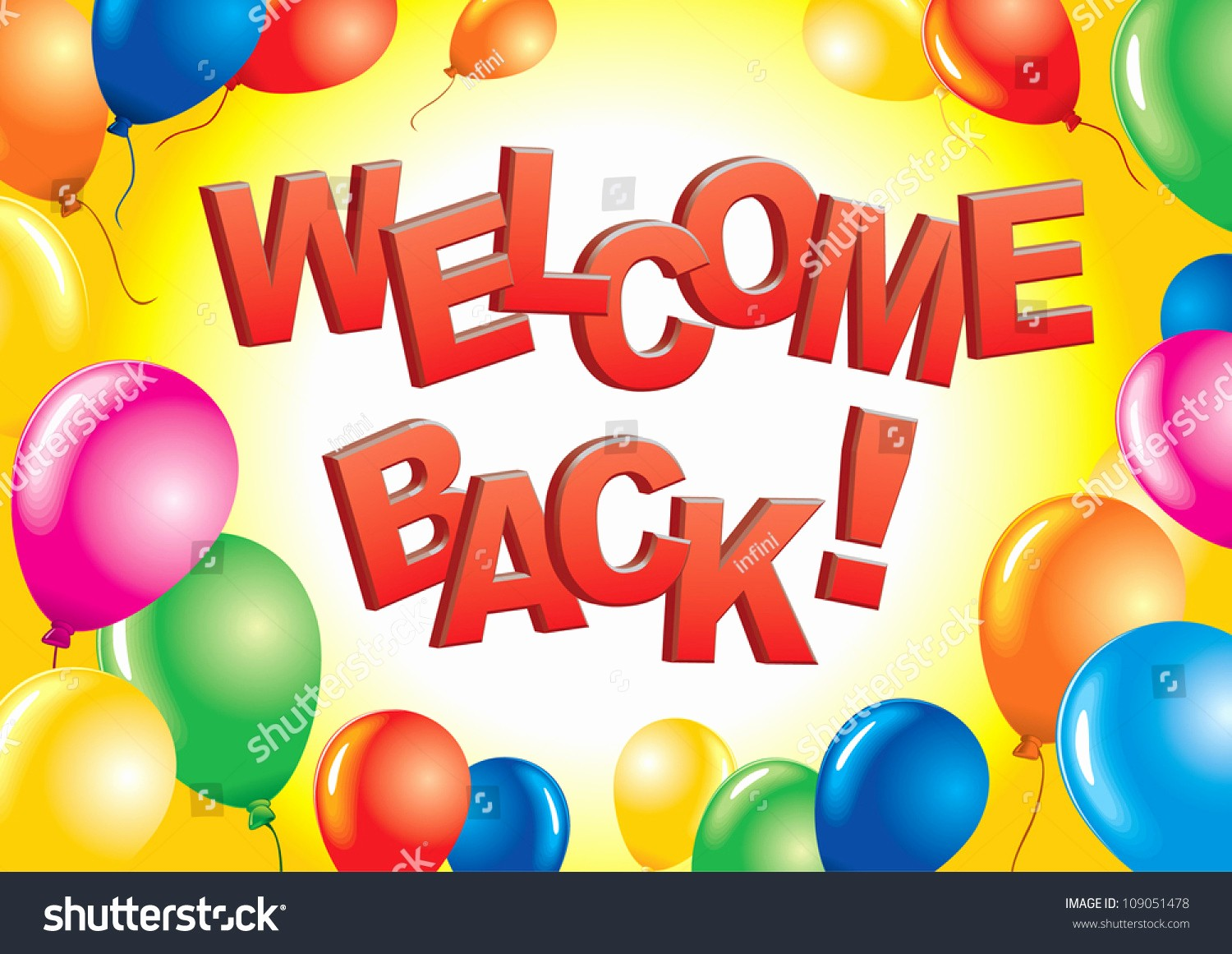 Free Printable Welcome Home Signs New Wel E Back Sign Stock Vector Shutterstock