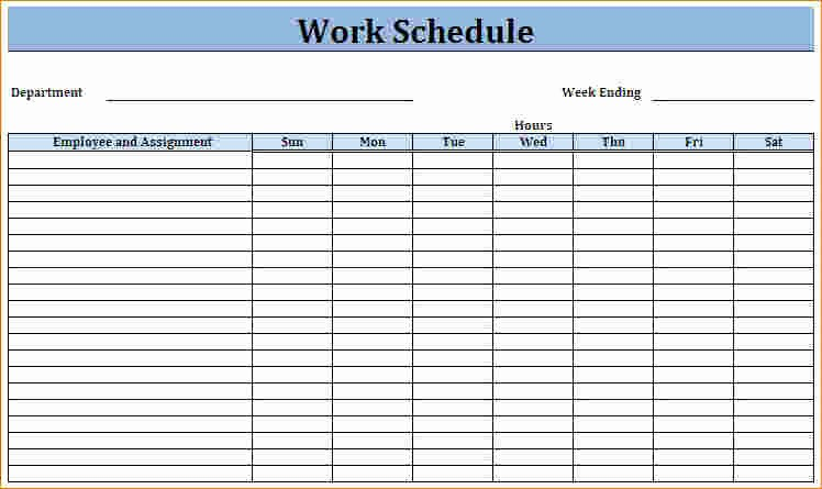 Free Printable Work Schedule Templates Beautiful Printable Work Schedule Templates
