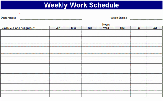 Free Printable Work Schedule Templates Inspirational 3 Work Week Calendar Template