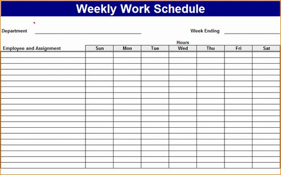 Free Printable Work Schedule Templates Inspirational 3 Work Week Calendar Template