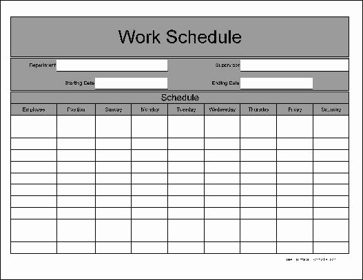 Free Printable Work Schedule Templates Inspirational 6 Best Of Free Printable Work Schedule C Free