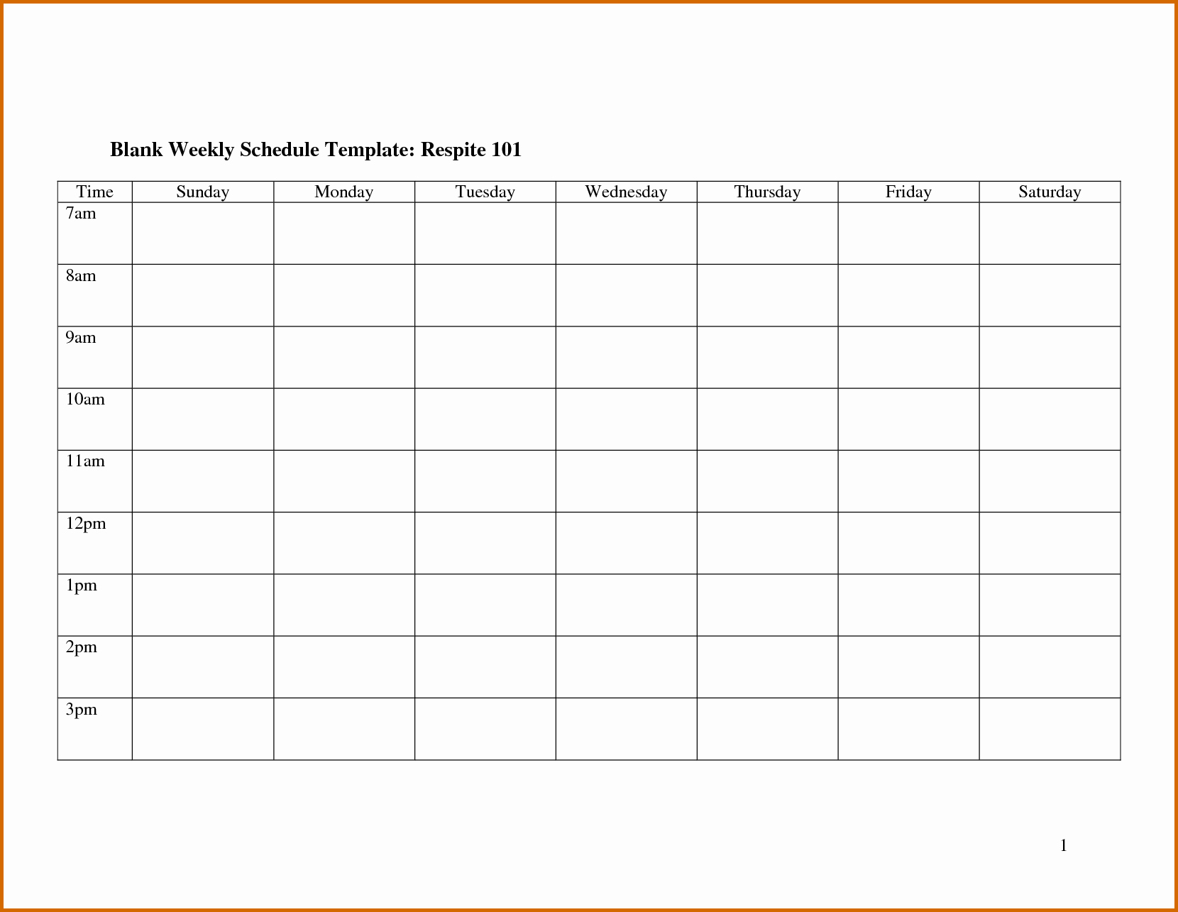 Free Printable Work Schedule Templates Inspirational 7 Blank Monthly Employee Schedule Template
