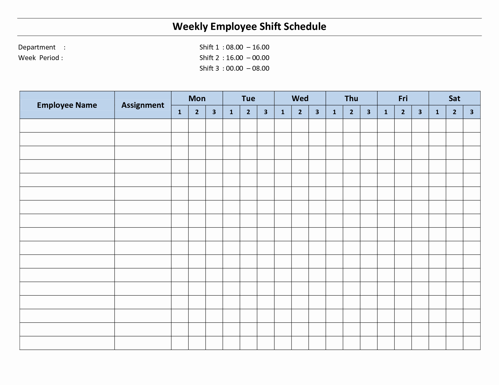 Free Printable Work Schedule Templates New 9 Best Of Free Printable Weekly Employee Schedule