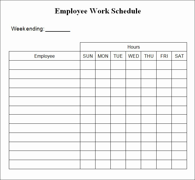 Free Printable Work Schedule Templates New Printable Weekly Schedule Template & Excel Planner
