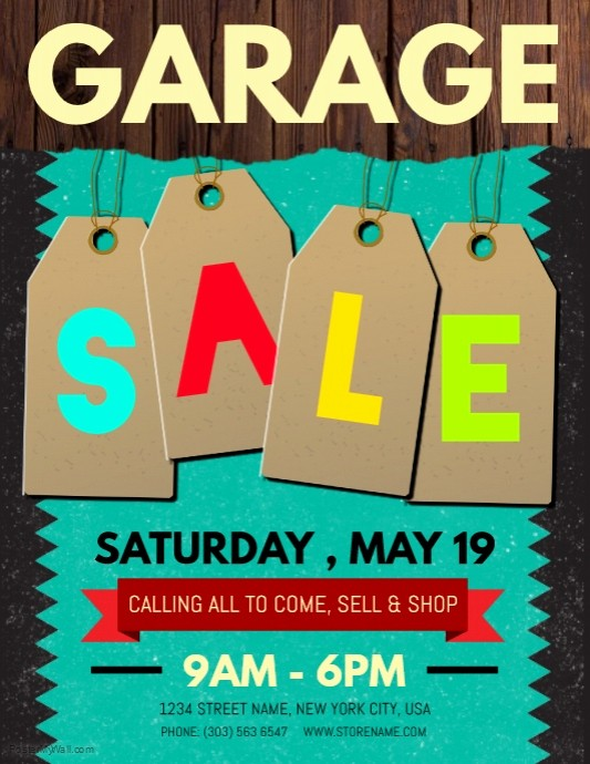 Free Printable Yard Sale Flyers Awesome Copy Of Garage Sale Flyer