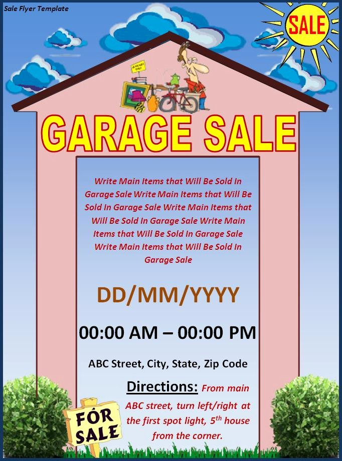 Free Printable Yard Sale Flyers Awesome Flyer Templates