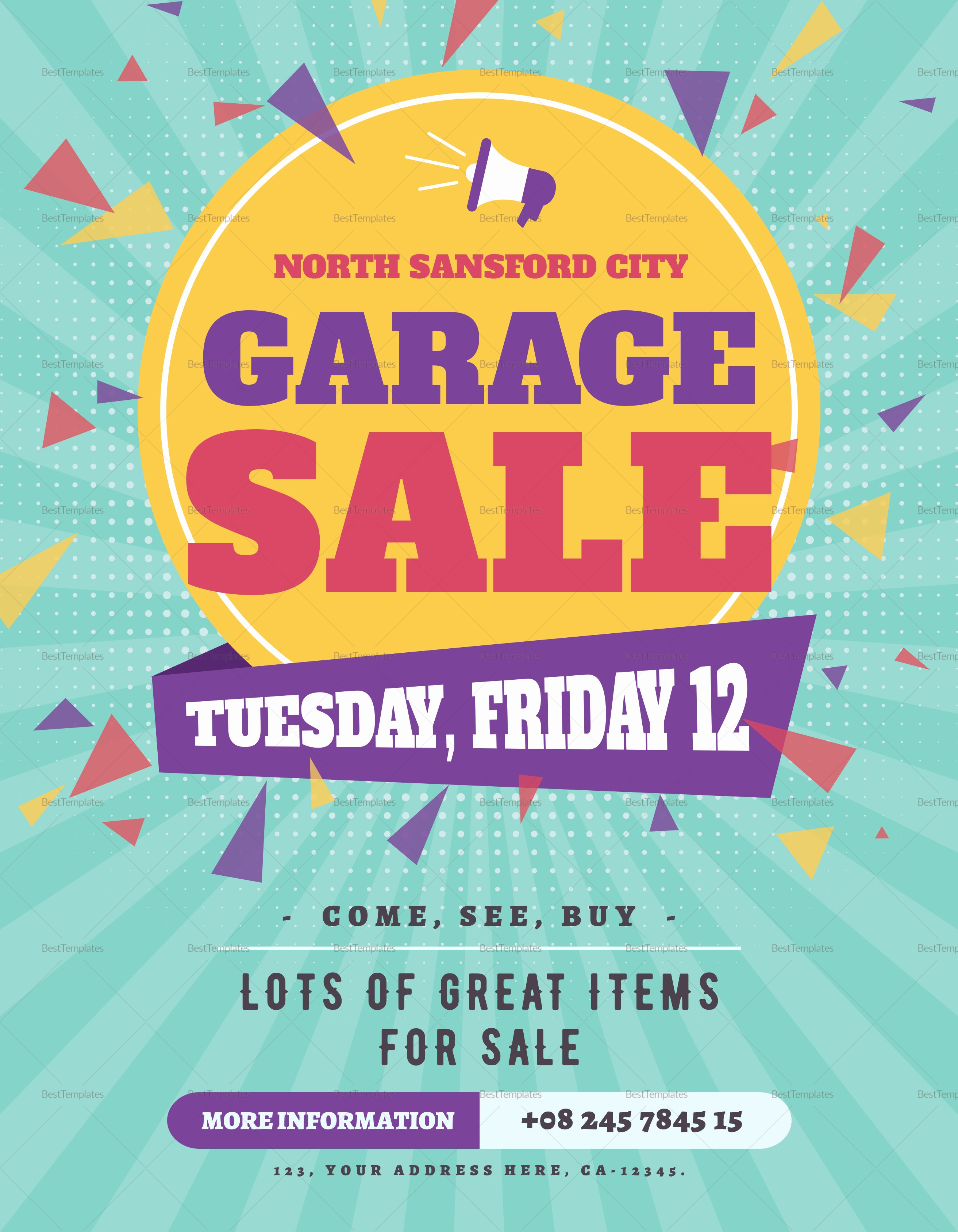 Free Printable Yard Sale Flyers Awesome Garage Sale Flyer Design Template In Psd Word