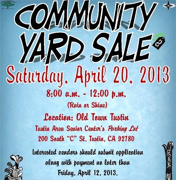 Free Printable Yard Sale Flyers Best Of 27 Yard Sale Flyer Templates
