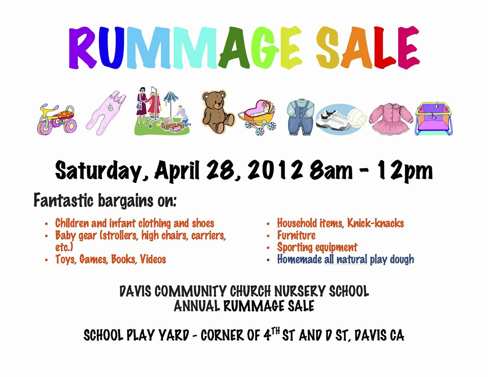 Free Printable Yard Sale Flyers Elegant Davis Ca Davis Munity Church Nursery School Dccns