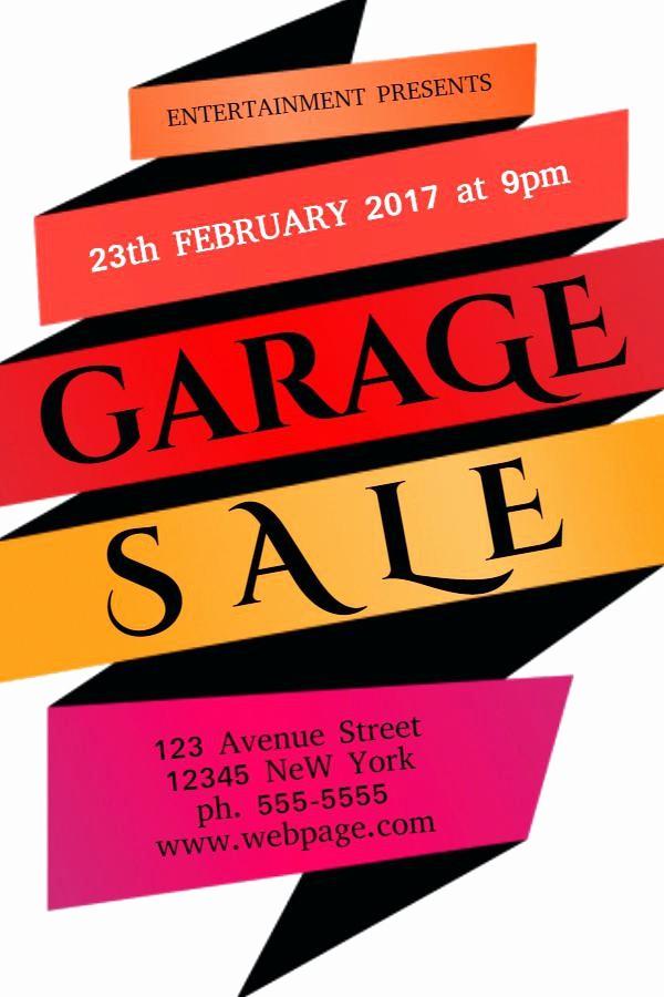 Free Printable Yard Sale Flyers Fresh Yard Sales Flyers 5 Garage Sale Stock Vector Illustration